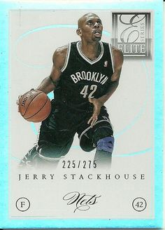 771c1f6bb44b 2012-13 ELITE SERIES  183 JERRY STACKHOUSE 225 275 NETS 50 CENT SHIPPING