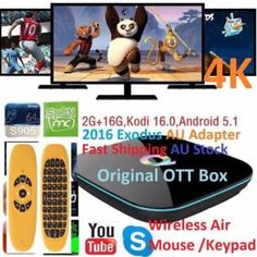 Q-Box 2016 Exodus 4K Android 6 2G 2G 16G+W'less Fly mouse/Keypad   Other Computers & Software   Gumtree Australia Manningham Area - Doncaster   1118028453