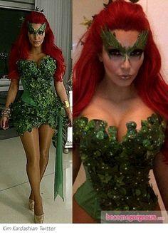 Kim Kardashian as Poison Ivy halloween costume