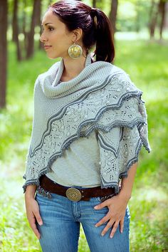 Ravelry: So close shawl pattern by Joji Locatelli from the Interpretations collection