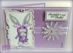 Crafters Companion Card I made for practical Publishing issue 111 Papercraft essentials... Bebunni Christmas (Rudolph) Stamp & sentiment