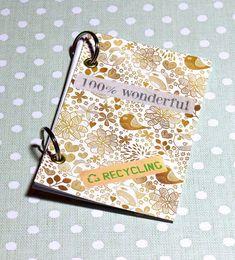 wunderschöne Notizbücher selber machen / DIY Hefte binden / Basteln mit Papier