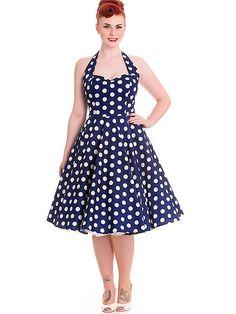 91bfd57d86d825 Rockabilly Dresses / Kleider · HELL BUNNY Mariam, navy Petticoat Kleid