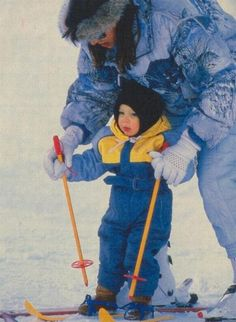 Andrea's first ski lesson Andrea Prince, Andrea Casiraghi, Charlotte, Prince Rainier, Monaco Royal Family, Princess Stephanie, Prince Albert, Royal House, Baby Sister