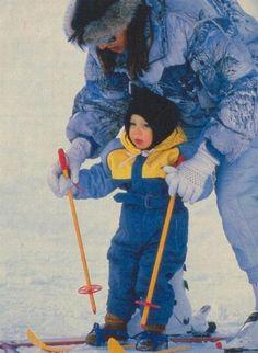 Andrea's first ski lesson