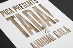 PICA Event Collateral by Tim Kamerer. Interesting ink treatment.