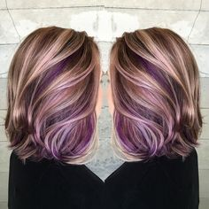Trendy Hair Highlights : 1000 ideas about Purple Peekaboo Hair on Pinterest   Purple