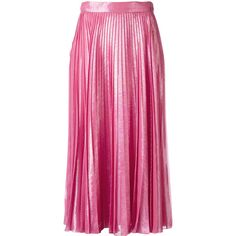 Gucci - pleated metallic skirt - women - Silk/Polyester - 40 ($1,525) via Polyvore featuring skirts, a-line skirt, pleated midi skirts, high-waisted skirts, high waisted midi skirt and midi skirt