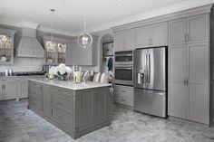 Brookhaven II Kitchen – Home Renovation Grey Kitchen Cabinets, Kitchen Cabinet Design, Interior Design Kitchen, Kitchen Grey, Kitchen Worktop, Gray And White Kitchen, Kitchen On A Budget, Home Decor Kitchen, New Kitchen