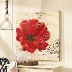 Les Notes de Coquelicot II Giclee Print from Ballard Designs