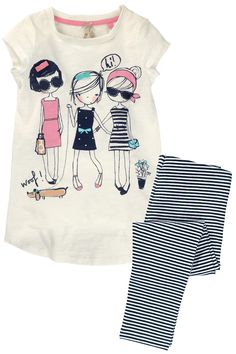 Buy Cuba Girl T-Shirt And Leggings Set (3-16yrs) from the Next UK online shop