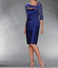 Royal Blue Mother of the bride dress Applique wedding party formal nights gown