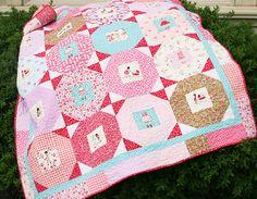 gorgeous quilt using new Sarah Jane line of fabrics