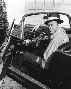 Frank Sinatra and his '55 Thunderbird.
