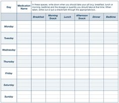 i ve got an ow printable daily medication chart to keep track of
