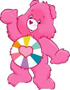 I want this bear! Care Bears, Owl Winnie The Pooh, Care Bear Tattoos, Cartoon Character Tattoos, Heart Care, Bear Coloring Pages, Bear Pictures, Cute Clipart, Paintings