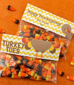 PERSONALIZED Turkey Toes Printable Bag by MakingLifeWhimsical