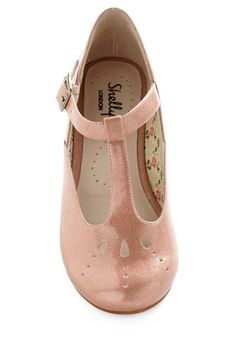 Pink mary janes for ladies, Shellys of London. <3