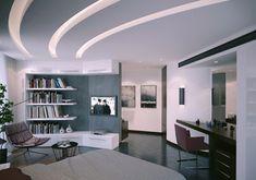 Abgehängte Decke Beleuchtung modern buch