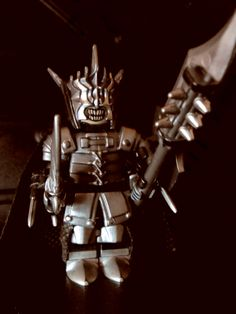 """Hand painted Brick Warriors/LEGO custom built Lord of the Rings """"Sauron"""" minifigure."""