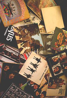 The Beatles vinyl records. Music Love, Music Is Life, Good Music, Music Music, We Will Rock You, All You Need Is Love, George Harrison, Great Bands, Cool Bands