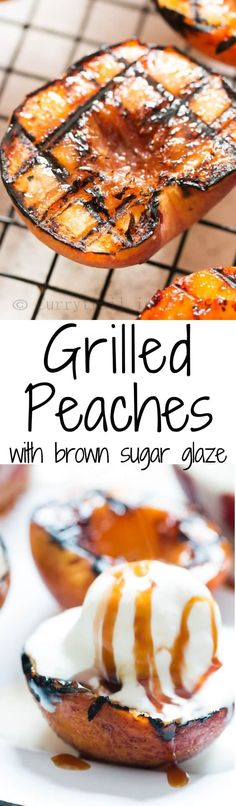 Grilled peaches recipe is too simple not to make it, you only need 3 ingredients and under 10 minutes.This grilling season, don't miss grilled peaches. Grilled Fish Recipes, Healthy Grilling Recipes, Fruit Recipes, Dessert Recipes, Recipes Dinner, Potato Recipes, Pasta Recipes, Crockpot Recipes, Soup Recipes
