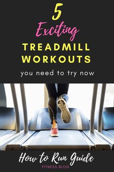 5 Fun Treadmill Workouts to make running inside not awful. Try one today and get your run on, treadmill style! Running On Treadmill, Treadmill Workouts, Running Workouts, Running Tips, Running Humor, Running For Beginners, How To Start Running, How To Run Faster, Workout For Beginners