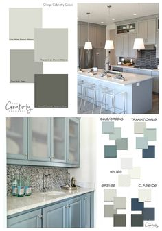 Cabinet Paint Color Trends and How to Choose Timeless Colors Tips for choosing timeless cabinet paint colors - Painted Colorful Kitchen Cabinets New Kitchen, Kitchen Decor, Kitchen Design, Kitchen Ideas, Kitchen Island, Kitchen Peninsula, Kitchen Small, Kitchen Trends, Trending Paint Colors