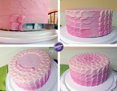 How to Decorate an Ombre Petal Buttercream Cake.