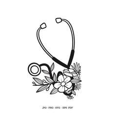 Nurse Decals, Cricut Svg Files Free, 4 Tattoo, Medical Art, Doctor Gifts, Black Image, Silhouette Studio Designer Edition, Stethoscope, Nurse Gifts