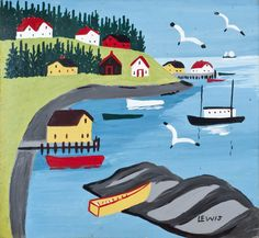 'Digby Harbour' by Maud Lewis at Mayberry Fine Art