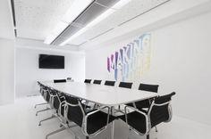 Simple white meeting room