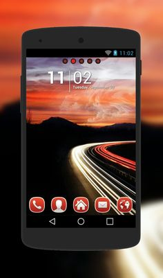 """""""Rush Hour"""" Android Theme. Free download  http://androidlooks.com/theme/t0819-rush-hour/  #android, #androidthemes, #customization, #goLauncher"""