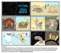 Petting Zoo Baby Book fabric by thirdhalfstudios on Spoonflower - custom fabric - @Kimberly Burch, I have to get this!