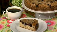 the chew | Recipe  | Carla Hall's Blueberry Crumb Coffee Cake  This is so good!