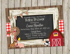 FARM BABY SHOWER INVITATION – COUNTRY BABY SHOWER- FARM ANIMALS - PRINTABLE 5X7 #babyshowerideas4u #birthdayparty #babyshowerdecorations #bridalshower #bridalshowerideas #babyshowergames #bridalshowergame #bridalshowerfavors #bridalshowercakes #babyshowerfavors #babyshowercakes