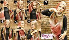 Tutorial hijab Tutorial Hijab Pesta, Hijabs, Hijab Fashion, Shawl, That Look, Barbie, My Style, Places, Clothes