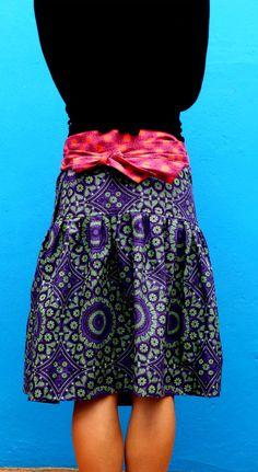 Ladies Wrap Around Skirt  S to XL  100% Cotton by MathildeAndCo Wrap Around Skirt, The 100, Mini Skirts, Couture, Lady, Cotton, How To Make, Fashion, Moda