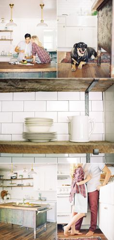 Cozy Kitchen Engagement Shoot – Style Me Pretty
