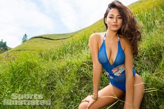 Jessica Gomes was photographed by Derek Kettela in  Guilin,Guangxi Province,China. Swimsuit by Maui Girl by Debbie Wilson.