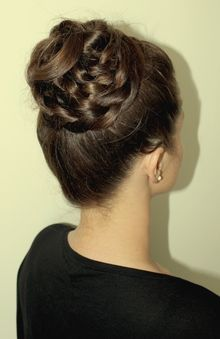 Classic Bun with Braided Wrap Around. This is ardorable for like a Ballet or something.