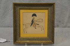 "Wm. Bunch - Raccoon Creek Auction - June 30, 2015. Lot 5290.  Estimate: $1,000 - $2,000. Realized: $1,900.  Description: Drawing on laid paper of soldier on horse by Zachariah Reynolds of Washington County, PA, c 1810, 5-3/4"" x 6"" sight, 10-3/4"" square overall."