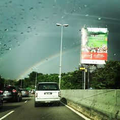 Feels good to be greeted with a beautiful rainbow on my first day back yesterday  #whereisthegoldpot #rainbow #home #kl #mindbodybreath