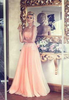 Appliques Long Lace Prom Dress Lovely Strapless Lace Evening Dress from wwww.27dress.com