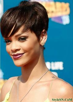 Short Pixie Cut with Long Bangs 2014StyleSN | StyleSN