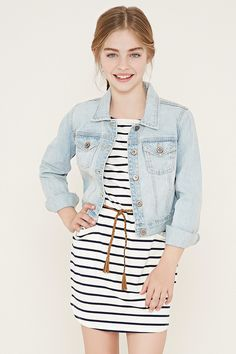 Girls Striped Dress (Kids)