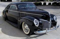 1939 Mercury, with mild custom work, chopped top, etc.