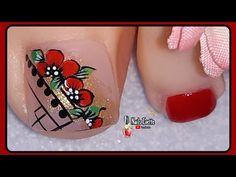 Spring Nail Art, Spring Nails, Purple And Pink Nails, Manicure, Floral Nail Art, Feet Nails, Toe Nail Designs, Toe Nail Art, Lily