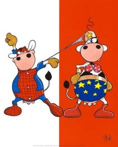 VACHE-SPIDERMAN AND SUPERCOW