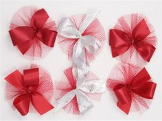 AC0914 - Red Hair Bow Collection
